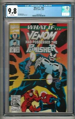 """What If... #44 (1992) CGC 9.8 White Pages  Busiek - McDonnell  """"Venom"""""""