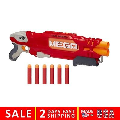 Nerf N Strike Elite Shotgun Pump Gun Blaster Foam Double Barrel Toy Mega Dart 6
