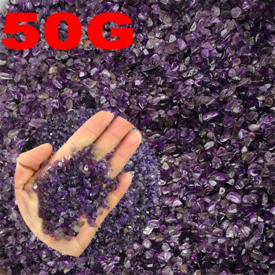 50g Natural Small Amethyst Point Quartz Crystal Stone Rock Chips Lucky Healing