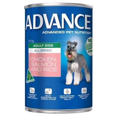 Advance Dog Food All Breed Chicken Salmon & Rice 410g 12's (P5949)