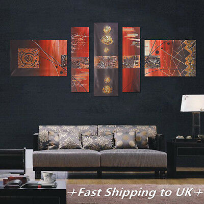 5Pcs Modern Abstract Canvas Print Wall Art Painting Picture Home Decor Unframed