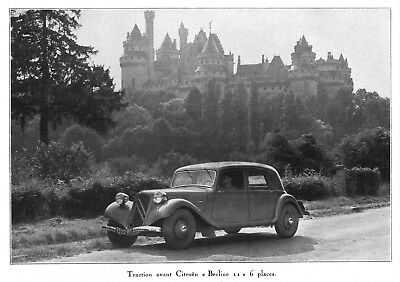 "*** Traction Citroën ""Berline 11"" 6 places *** 1937 - photo (22 x 15,5) // a279"