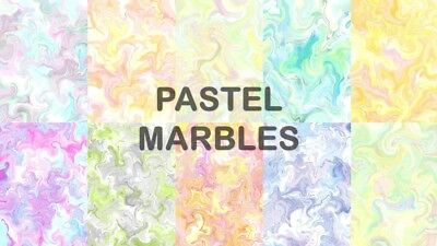 PASTEL MARBLES SCRAPBOOK PAPER - 10 x A4 pages