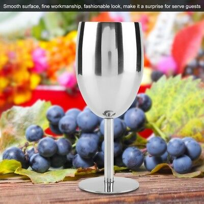 Durable Stainless Steel Wine Glass Coffee High Cup Goblet Home Bar Drinking Mug
