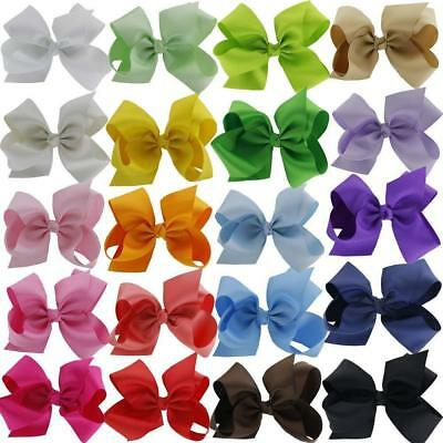 6 Inches Huge Big Bow Clip Boutique Hair Bows For Girls Kids Children Pack Of 20