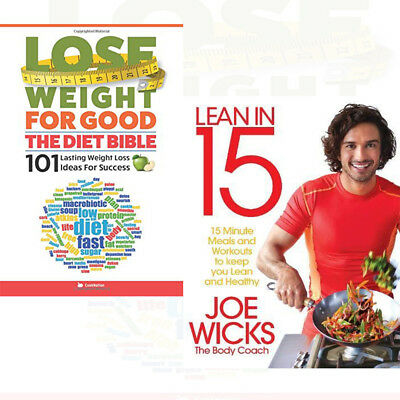 Joe Wicks Collection Lean in 15 Shift Plan Meals and Workouts 2 Books Set NEW