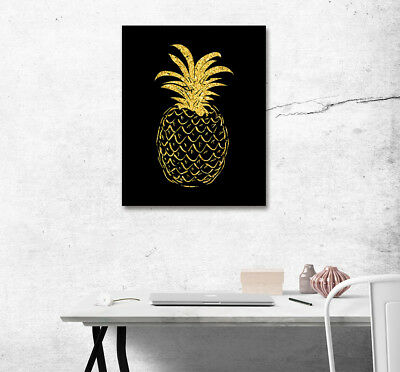 Tropical Fruit Pineapple Abstract Art Poster Print Canvas Paint Home Wall Decor