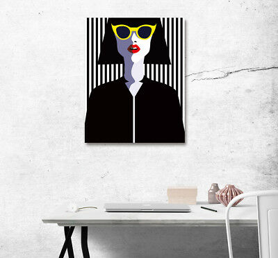 Modern Fashion Girl Woman Abstract Art Poster Print Canvas Paint Home Wall Decor