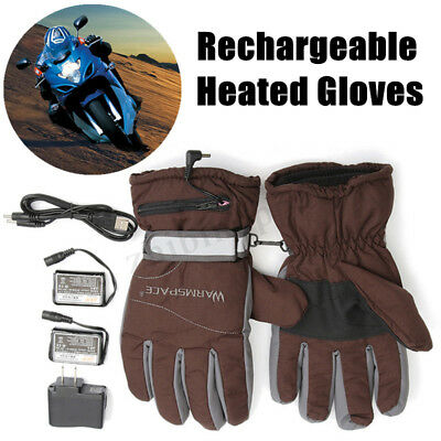 WARMSPACE Battery Heated Winter Gloves+Double Rechargeable Battery Keep Warm