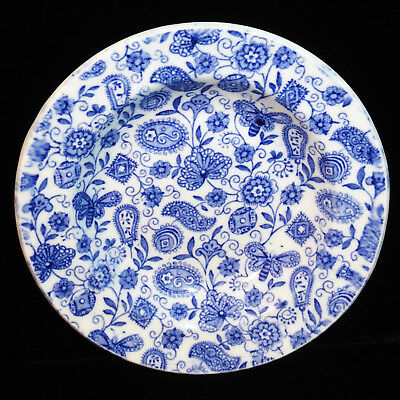 Child Flow Blue Transferware Bowl PAISLEY CHINTZ Ridgway Staffordshire 1890