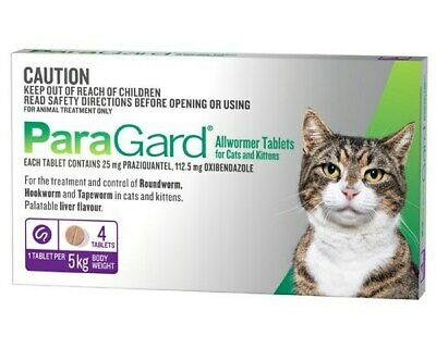 Paragard Cat & Kittens Allwormer Treatment & Control Tablets 4's (P5611)