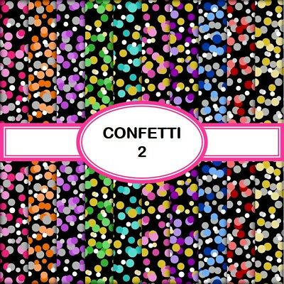 CONFETTI 2 SCRAPBOOK PAPER - 10 x A4 pages