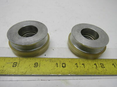 """Dematic K001805AAA 2"""" V-Groove O-Ring Skate Wheel 7/16"""" Bore Lot Of 2"""