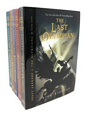 Percy Jackson and the Olympians Collection Rick Riordan 5 Books Series