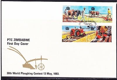 Zimbabwe 1983 Ploughing Contest First Day Cover - Pictorial Cancel