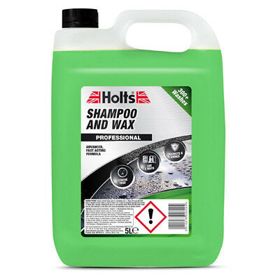 Holts HAPP0101A 5L Shampoo & Wax 5 Litre Car Care Cleaning Accessories