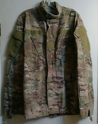 US ARMY MULTICAM/OCP COMBAT UNIFORM COAT - MEDIUM-LONG (very faded/worn)