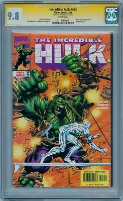 Incredible Hulk #464 Cgc 9.8 Signature Series Signed Joe Kubert Silver Surfer