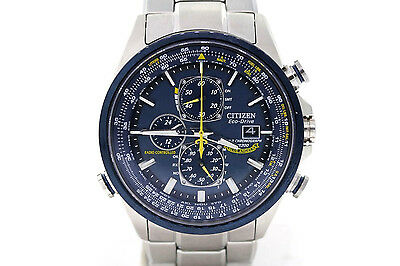 Men's Citizen AT8020-54L Eco-Drive Blue Angels Radio Controlled Stainless Watch