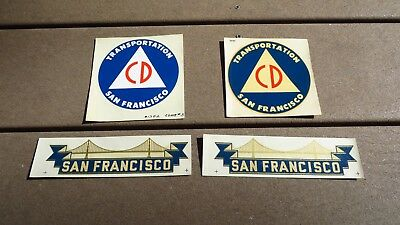 San Francisco CIVIL DEFENSE STAFF CD DECAL COLD WAR ERA HELMET VEHICLE