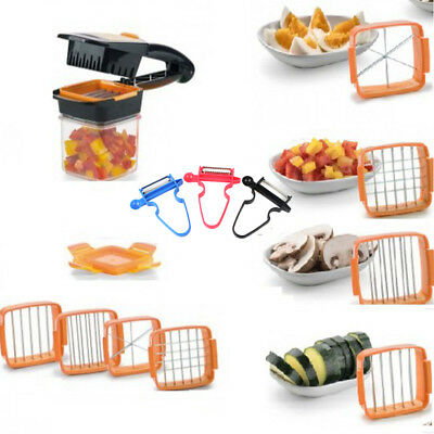 1 Set Fruit Cutter Onion Slicer Potato Crusher Vegetable Quick Cutting Divice