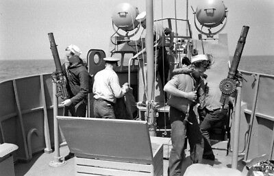 WW2 WWII Photo US Coast Guard Crew in Action  USCG World War Two / 7218