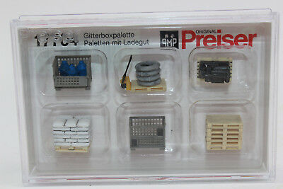 Preiser 17704 Pallet Cage with Load New Original Packaging H0 1:87