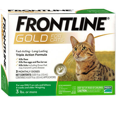Frontline GOLD for Cats 3 MONTH