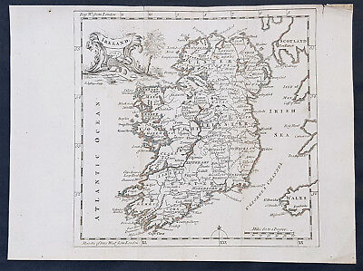 1760 Thomas Jefferys Original Antique Map of Ireland