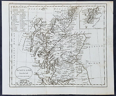 1770 Thomas Kitchin Original Antique Map of Scotland