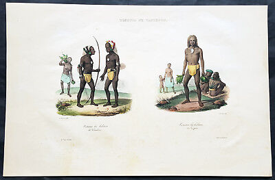 1836 D Urville & Sainson Antique Print of Vanikoro & Tikopia Islands, Solomon Is