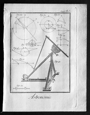 1760 Denis Diderot Antique Astronomical Print from Encyclopédie (35097)