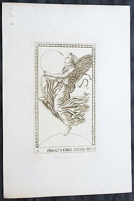 1870 Charles Amand-Durand after Johann Ladenspelder Antique Print #49 Tarot Card