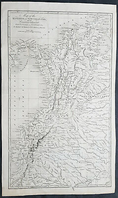 1777 William Robertson Large Antique Map of NW South America - Panama to Peru