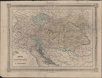 1835 Dufour Antique Map of Austrian Empire in Central Europe and Hungary