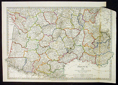 1830 SDUK Antique Map of Southern France