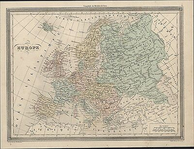 1847 Vuillemin Antique Map of Europe