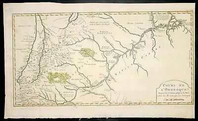 1773 Bellin Large Antique Map Course of The Orinoco River South America - Rare