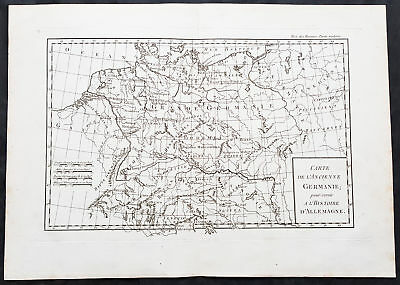 1769 J B D Anville Antique Map of Germany & Central Europe