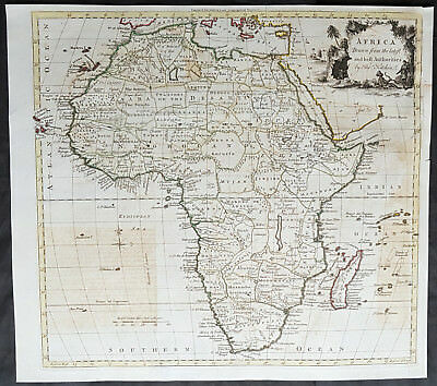 1770 Thomas Kitchin Large Antique Map of Africa