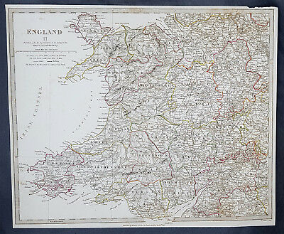 1831 SDUK Large Antique Map of Wales