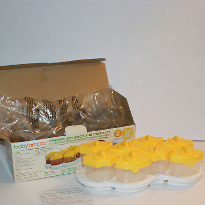 Baby Brezza Food Storage System OCTO 8 Containers and Tray NEW