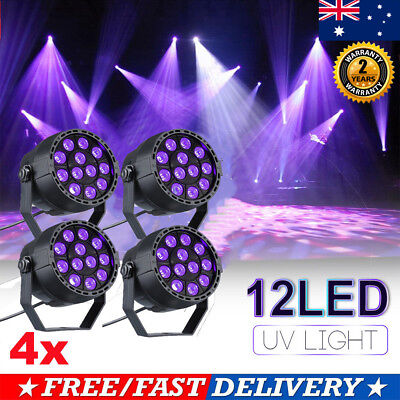 1-4x Disco Party DJ KTV 12x LED UV DMX Stage Effect Laser Projector Light Lamp