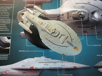 Star Trek USS Voyager with Collectible Magazine #6 by Eaglemoss NCC 74656
