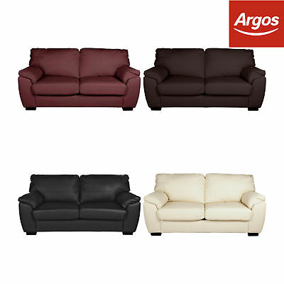 Argos Home Milano Leather Metal Action Sofa Bed - Choice of Colour.