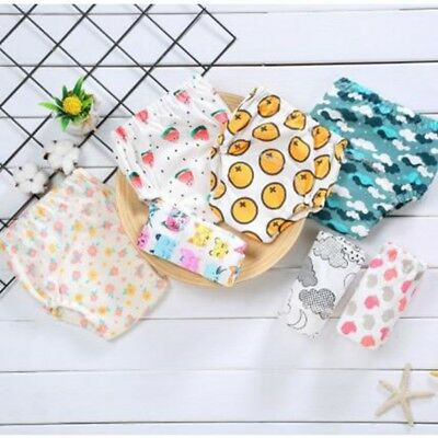 Washable Toddler Boys Girls Toilet Training Pants Nappy Underwear Cloth Diaper