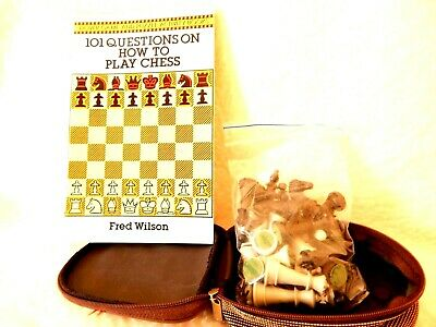 CHESS PIECES and  101 QUESTIONS ON HOW TO PLAY CHESS BOOK