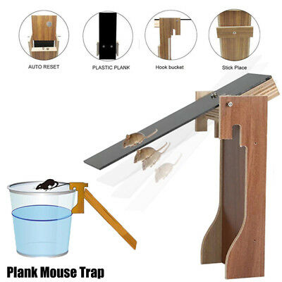 Walk The Plank Mouse Trap Mice Cage Rat Trap Auto Reset Rodent Bucket Board