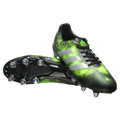 adidas Kakari SG Men's 8 Stud Soft Ground Rugby Unoin Boots Black & Green