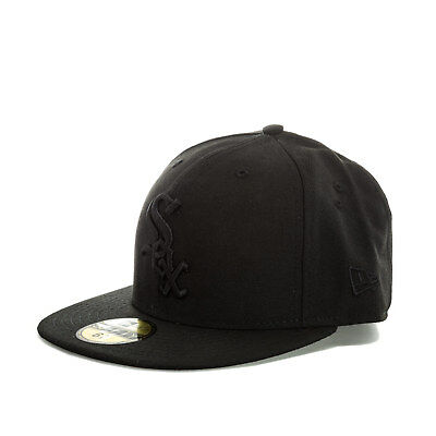 Mens New Era Chicago White Sox Black On Black 59Fifty Cap In Black- Fitted Cap-